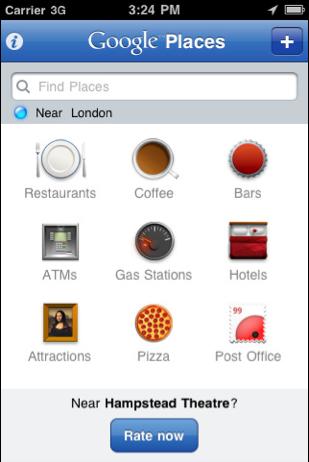 Google Places App