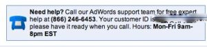 Phone Number for AdWords Help