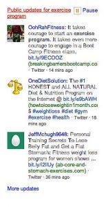 Twitter Updates on Bing News